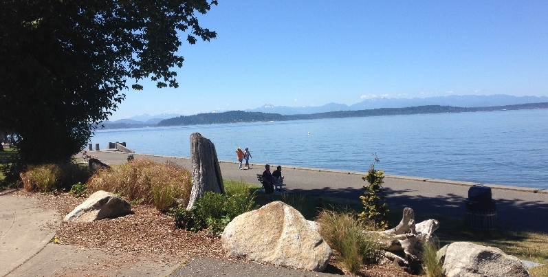 Picture of Alki Point in West Seattle, Washington